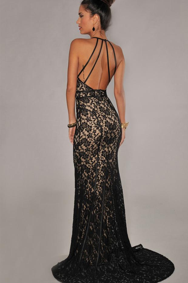 Красивое кружевное платье в пол