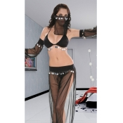 Exotic Style Halter Neck Transparent Lingerie Suit