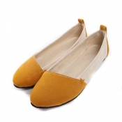 Korea version candy colors round toe plus size sho