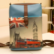 Vintage Zipper Design and UK Flag & Big Ben Print