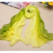 Hot Sales Gradually Changing Color Green Chiffon B