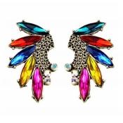 Brilliant Tassels Embellished Metal Earrings
