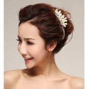 Romantic Elegant Peral Embellished Flowers Shaped