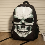 Fashion Character Zipper Ivory Polyester Backpack