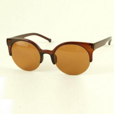 Óculos De Sol Vintage Meia-idade Marrom Escuro