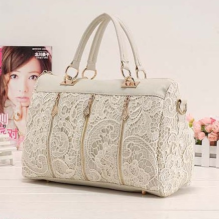 Fashion Solid Zipper White PU Clutches Bag