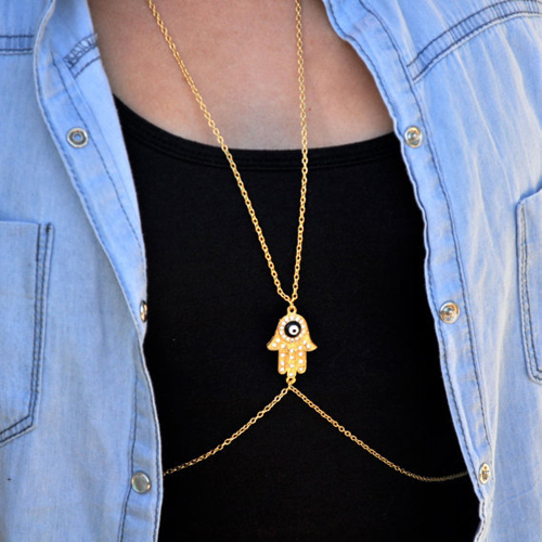 Fashion Gold Metal Body Chain