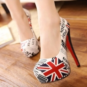 Fashion Round Closed Toe UK National Flag Pattern