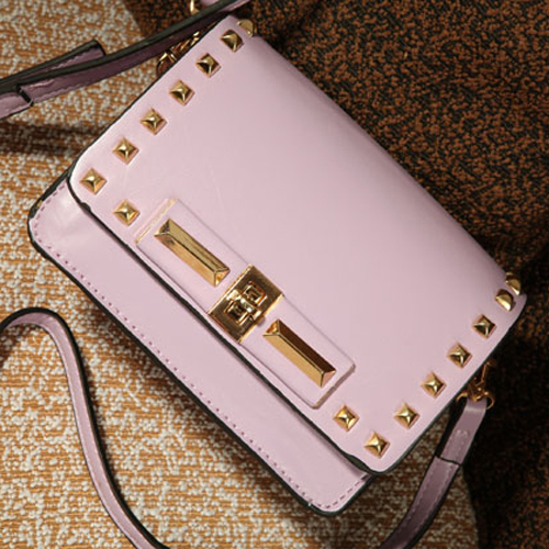 Fashion Solid Zipper Purple PU Shoulder Bag