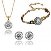 Fashion Gold Metal Wedding Jewelry Set