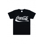 Free Style O Neck Short Sleeves Letters Printed Bl