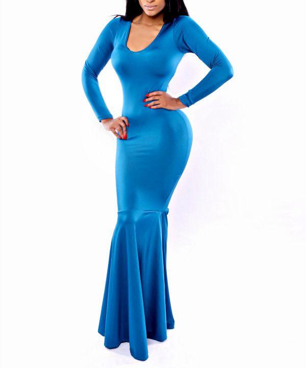 Mermaid Style Maxi Dress