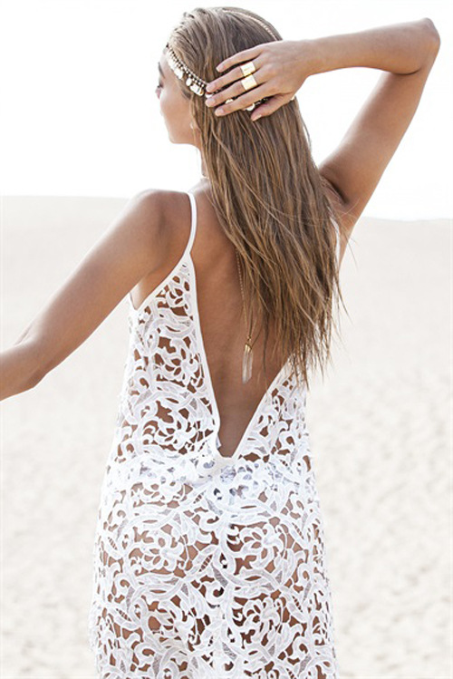 8802a73bfc Cheap Sexy O Neck Spaghetti Strap V-shape Backless Hollow-out Solid White  Cover