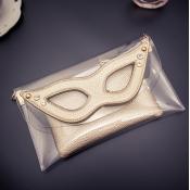 Cheap Women Fashion Mask Eyes Shaped Champagne Gol