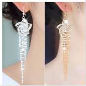 Fashion Golden Crystal Earrings