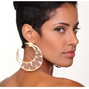 Fashion Moon Shaped Acrylic Earrings