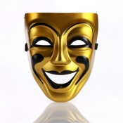 Fashion Smiley Face Gold PVC Mask