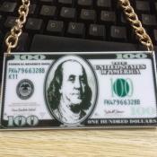 Fashion Dollar Note Shaped Acrylic Necklace