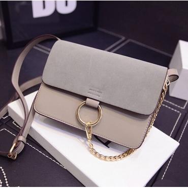 Fashion Women Hasp Desgin Grey  PU rossbody