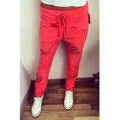 Fashion Hollow-desgin Solid Red Polyester Drawstri