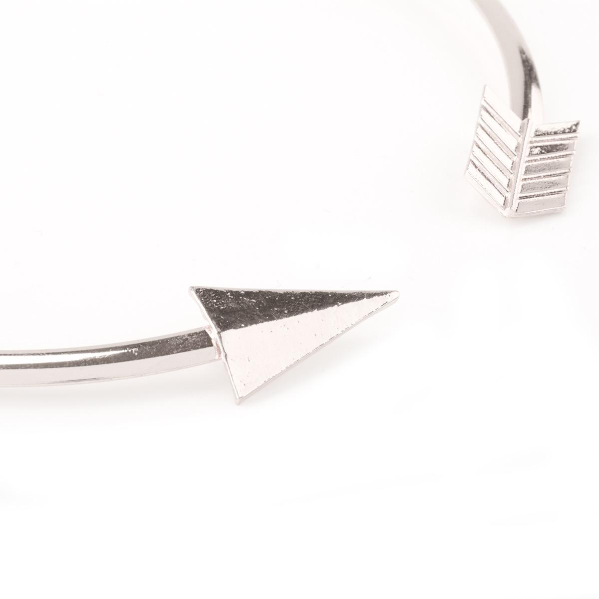 Fashion Arrow Design Silver Metal Necklace