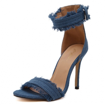 Trendy Open Toe Hollow-out Stiletto Super High Hee