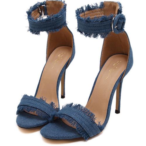 Модные Открытым Носком Полый-из стилет супер высокий каблук легкий PU сандалии