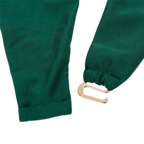 Cordón atractivo del cuello V del halter-hasta hueco-out Green Nylon One-Traje de baño Piece