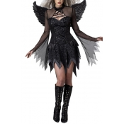 Halloween Angel Design Black Polyester Cosplay Cos