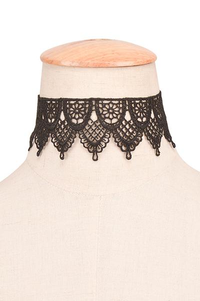 Fashion Black Bud Silk Choker