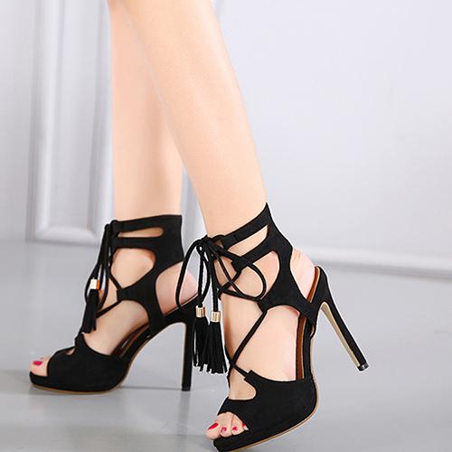 замша стилет супер высокая мода крест ремень сандалии