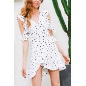 Blending Casual V Neck A Line Mini Dresses