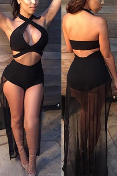 Nylon Solid Bikinis