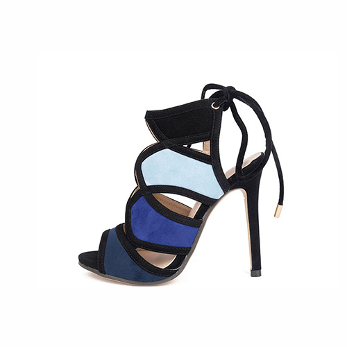 Suede Stiletto Super High Fashion Ankle Strap Sandals