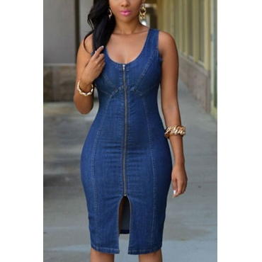 Cotton Solid Skinny  Dresses