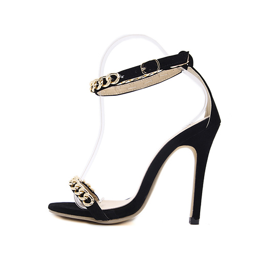 Sandálias De Camurça Stiletto Super-alta Moda