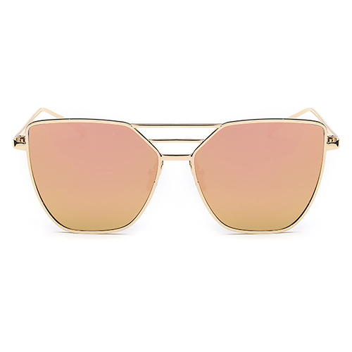Euramerican Oco-out Óculos De Sol Rosa De Metal