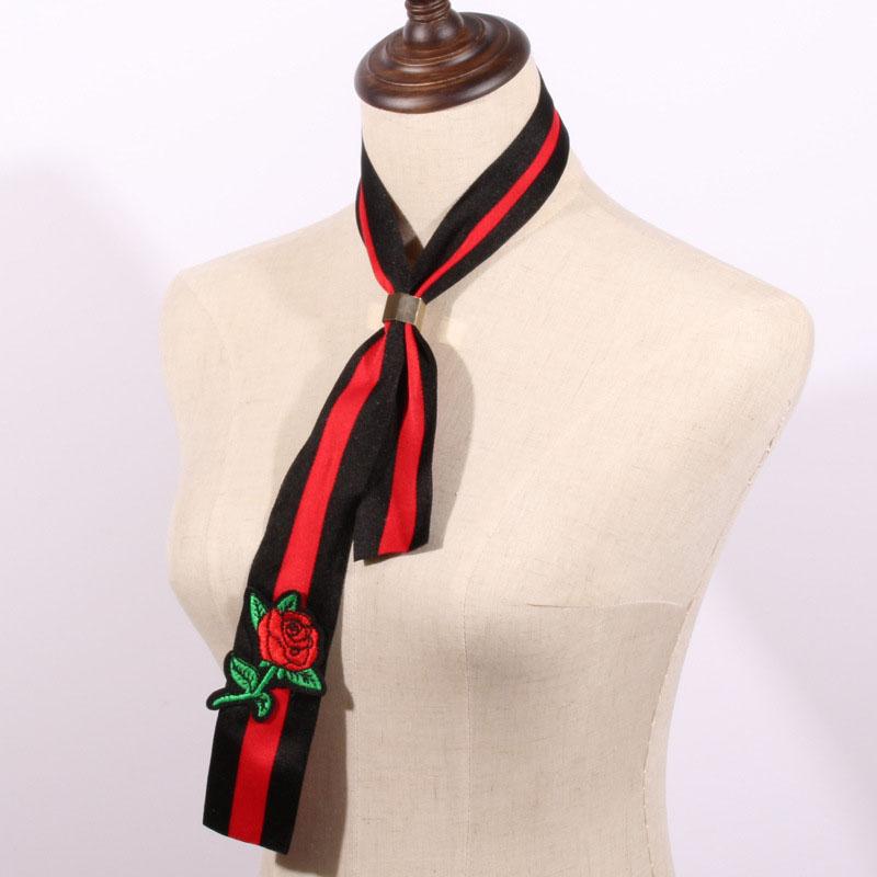 Fashion Black-red  Cotton Scarves
