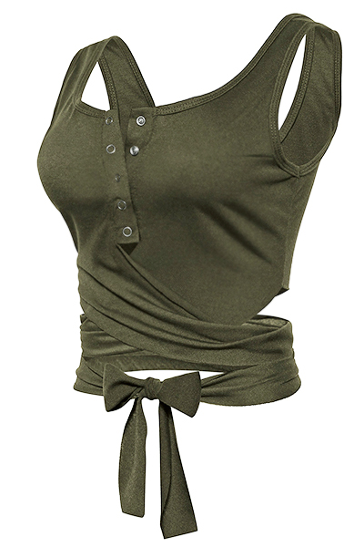 Vests Cotton O Neck Sleeveless Solid Blouses&Shirts