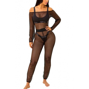 Gauze Solid Skinny Jumpsuits