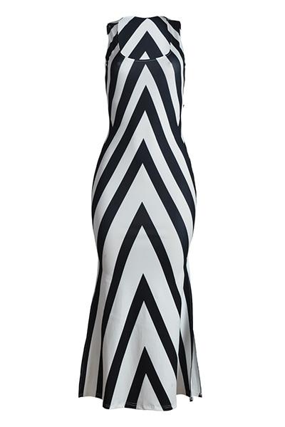 Twilled Satin Fashion U Neck mangas bainha tornozeleira Comprimento Vestidos