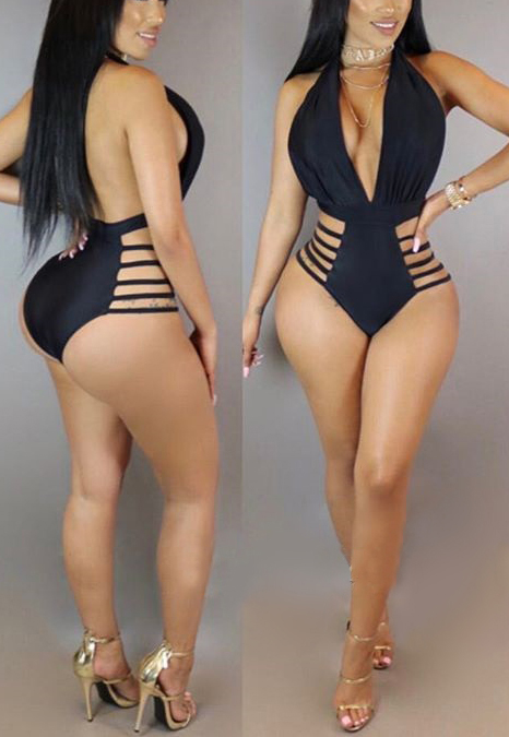 Ployester Solid One Pieces