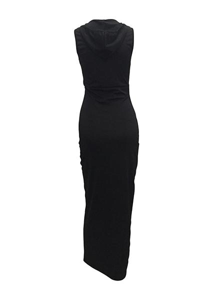 Healthy Fabric Sexy O neck Sleeveless Sheath Ankle Length Dresses