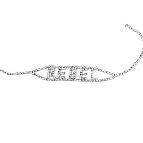 Мода Горный Хрусталь Декоративные Серебряный Металлический Ожерелье