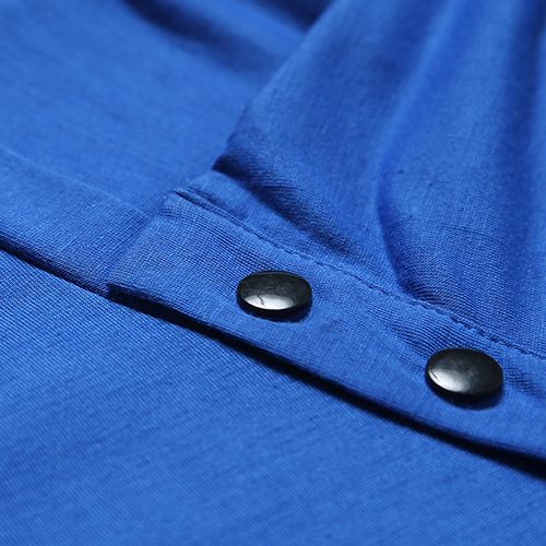 Leisure Tute a manica corta T-shirt Maniche corte Royalblue Cotton T-camicia