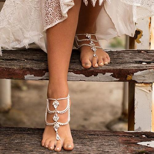 Fashion Rhinestone Decorative Silver Metal Body Chain (seulement vendre A)