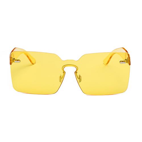 Fashion Yellow PC Sunglasses<br>