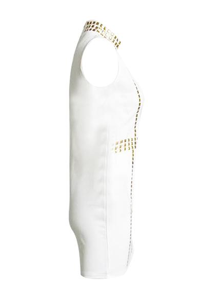 Очаровательная водолазка с длинными рукавами без рукавов из белого хлопка