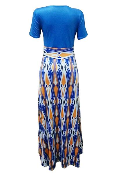 Milk Fiber Fashion O neck Short Sleeve A Line Floor length Dresses
