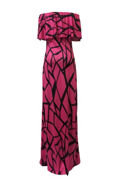 Robe courte à manches courtes à manches courtes Falbala Design Robe à la cheville